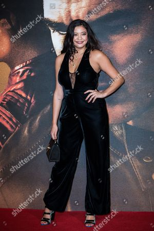 Naomi Shimada poses for photographers upon arrival at the premiere of the film 'Jack Reacher: Never Go Back' in London