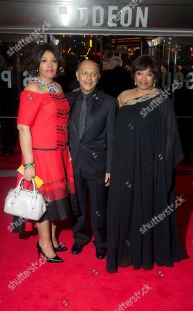 Producer Anant Singh arrives with Zenani Mandela, left and Zindzi Mandela, for the UK Premiere of the Long Walk to Freedom, a film based on the South African President Nelson Mandela's autobiography of the same name, to the Odeon cinema in Leicester Square, central London