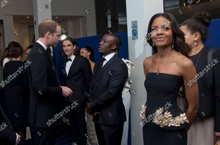 The Duke of Cambridge meets Tony Kgoroge ahead of the UK Premiere of the Long Walk to Freedom, a film based on the South African President Nelson Mandela's autobiography of the same name, to the Odeon cinema in Leicester Square, central London