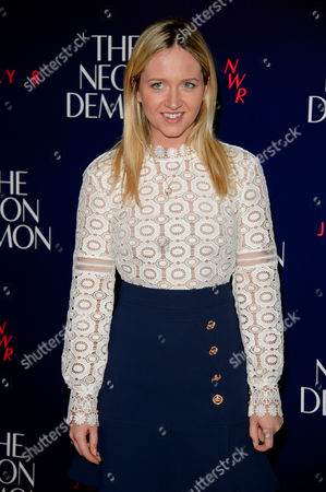 Camilla Elphick poses for photographers upon arrival at the UK premiere of the film 'The Neon Demon' at a central London cinema, London