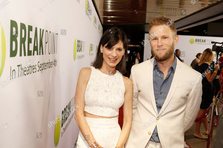 Perrey Reeves and Aaron Endress-Fox seen at Broad Green Pictures Special Screening of 'Break Point' at TCL Chinese Theatre, in Hollywood, CA