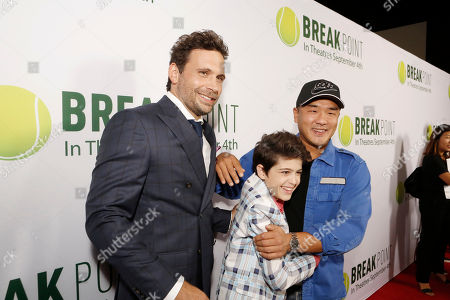 Stock Photo of Jeremy Sisto. Joshua Rush and Writer/Co-producer Gene Hong seen at Broad Green Pictures Special Screening of 'Break Point' at TCL Chinese Theatre, in Hollywood, CA