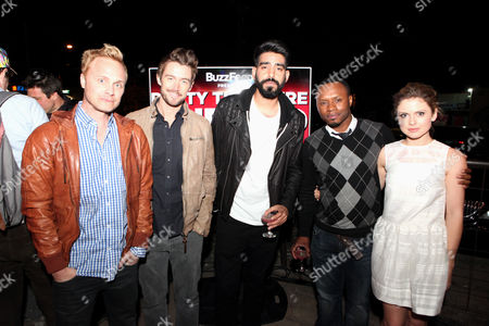 "From left, David Anders, Robert Buckley, Rahul Kohl, Malcolm Goodwin and Rose McIver seen at ""Party Til You're Undead"" presented by BuzzFeed and sponsored by iZombie / The CW at Whisler's, on in Austin, Texas"