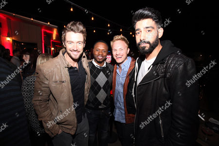 "From left, Robert Buckley, Malcolm Goodwin, David Anders and Rahul Kohl seen at ""Party Til You're Undead"" Presented by BuzzFeed and Sponsored by iZombie / The CW at Whisler's, on in Austin, Texas"