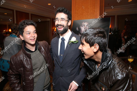 Jawanmard Paiz, Director/Producer Ariel Nasr and Fawad Mohammadi at The Canadian Consulate Pre Oscar Luncheon for the 2013 Academy Awards, on Thursday, Feb., 21, 2013 in Beverly Hills