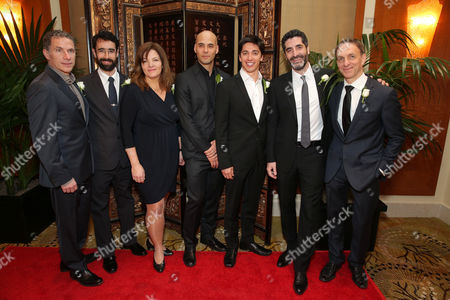 Producer Pierre Even, Director/Producer Ariel Nasr, Producer Marie-Claude Poulin, Director Kim Nguyen, Director/Producer/Writer/Actor Yan England, Producer Mino Jarjoura and Composer Mychael Danna at The Canadian Consulate Pre Oscar Luncheon for the 2013 Academy Awards, on Thursday, Feb., 21, 2013 in Beverly Hills