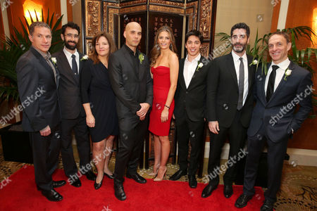 Producer Pierre Even, Director/Producer Ariel Nasr, Producer Marie-Claude Poulin, Director Kim Nguyen, Stana Katic, Director/Producer/Writer/Actor Yan England, Producer Mino Jarjoura and Composer Mychael Danna at The Canadian Consulate Pre Oscar Luncheon for the 2013 Academy Awards, on Thursday, Feb., 21, 2013 in Beverly Hills