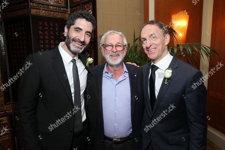 Producer Mino Jarjoura, Norman Jewison and Composer Mychael Danna at The Canadian Consulate Pre Oscar Luncheon for the 2013 Academy Awards, on Thursday, Feb., 21, 2013 in Beverly Hills