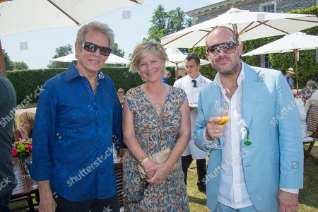 Don Felder, Lady March and Sir Jonathan Ive at the Cartier 'Style et Luxe' on the private lawn of Goodwood House during Goodwood Festival of Speed in West Sussex on