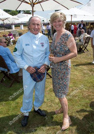 Sir John Young 'Jackie' Stewart and Lady March at the Cartier 'Style et Luxe' on the private lawn of Goodwood House during Goodwood Festival of Speed in West Sussex on
