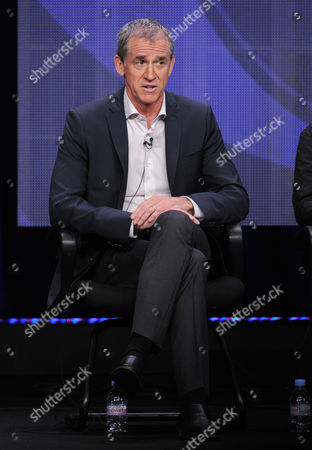 """Executive producer Kevin Falls participates in the CBS """"Made In Jersey"""" TCA panel on in Beverly Hills, Calif"""