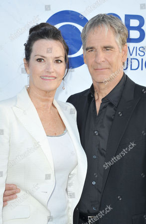 Scott Bakula, at right, and Chelsea Field arrive at CBS Television Studios Summer Soiree at The London Hotel on in Los Angeles