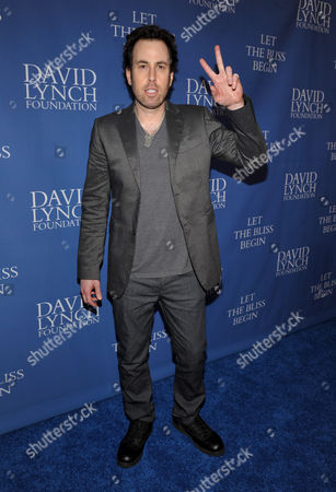 Stock Image of Adam Gaynor arrives at David Lynch Foundation: A Night of Comedy honoring George Shapiro at the Beverly Wilshire Hotel on in Beverly Hills, Calif