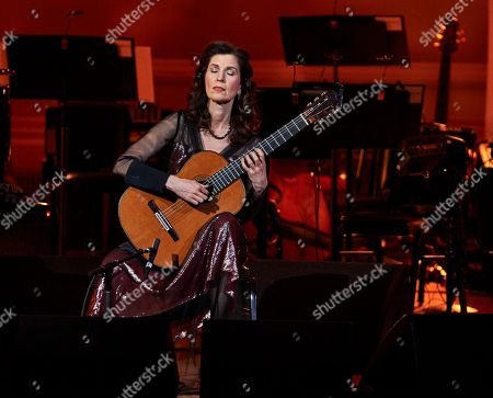 Stock Picture of Sharon Isbin performing at the David Lynch Foundation Benefit Concert at Carnegie Hall on Wed., in New York