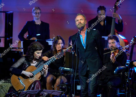 Sharon Isbin and Sting perform at the David Lynch Foundation Benefit Concert at Carnegie Hall, in New York