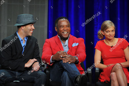 Actors Luis Antonio Ramos, Isiah Whitlock, Jr. and Anastasia Phillips attend the Disney/ABC Television Group's 2013 Summer TCA panel at the Beverly Hilton Hotel on in Beverly Hills, Calif