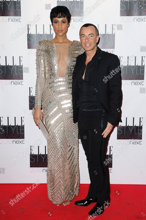Zawe Ashton and Julien Mcdonald arrive for the Elle Style Awards at a central London venue, in London