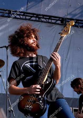 Bassist Ian Peres of Wolfmother performs at EPICENTER '09: 'So Cal's Rock Explosion' at the Fairplex on in Pomona, California