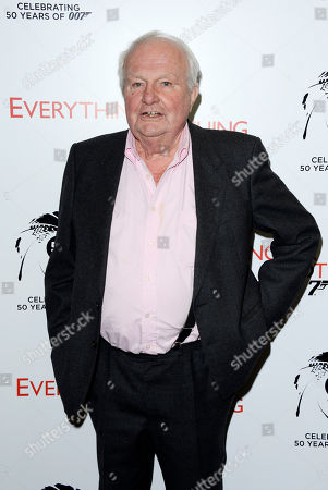 Stock Photo of Shane Rimmer poses at Everything or Nothing - The Untold Story of 007 at Odeon West End on in London