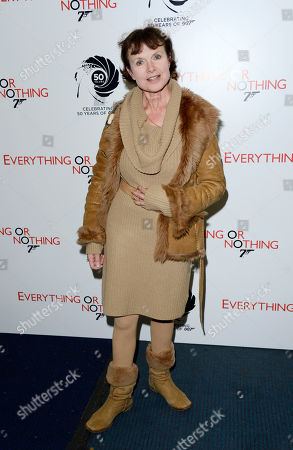 Madeline Smith poses at Everything or Nothing - The Untold Story of 007 at Odeon West End on in London
