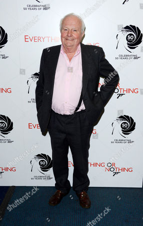 Shane Rimmer poses at Everything or Nothing - The Untold Story of 007 at Odeon West End on in London