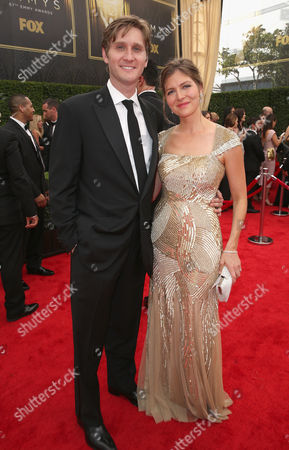 Stock Picture of Aaron Staton, left, and Connie Fletcher arrive at the 67th Primetime Emmy Awards, at the Microsoft Theater in Los Angeles