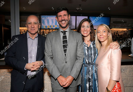 David Madden (C) President, Entertainment, Fox Broadcasting Company with Executive Producers Rich Ross, Caroline Bernstein, and Jane Featherstone attend the Film Independent Screening of Fox's 'Gracepoint' at Bing Theatre at LACMA on in Los Angeles