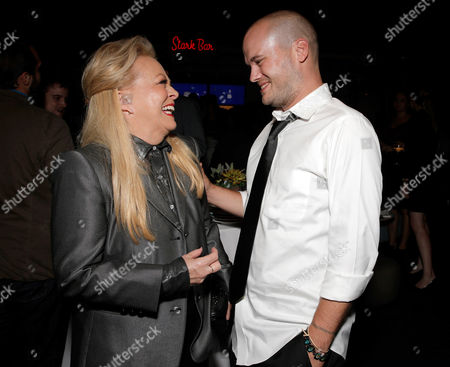 Jacki Weaver and Stephen Louis Grush attend the Film Independent Screening of Fox's 'Gracepoint' at Bing Theatre at LACMA on in Los Angeles