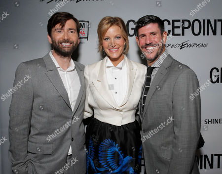 David Tennant, Anna Gunn, Rich Ross attend the Film Independent Screening of Fox's 'Gracepoint' at Bing Theatre at LACMA on in Los Angeles