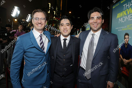 Producer Scott Aversano, Producer Justin Nappi and Producer Kevin Turen seen at Focus Features 'That Awkward Moment' Premiere, on Monday, January, 27, 2014 in Los Angeles