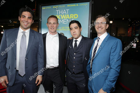 Producer Kevin Turen, Peter Schlessel, CEO of Focus Features, Producer Justin Nappi and Producer Scott Aversano seen at Focus Features 'That Awkward Moment' Premiere, on Monday, January, 27, 2014 in Los Angeles