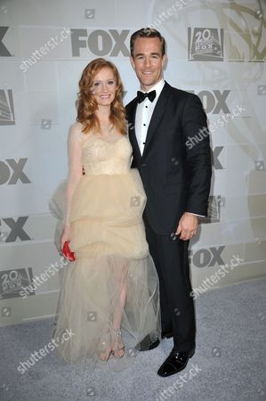 James Van Der Beek, left, and Heather McComb attends the Fox Emmy Nominee party at Soleto on in Los Angeles