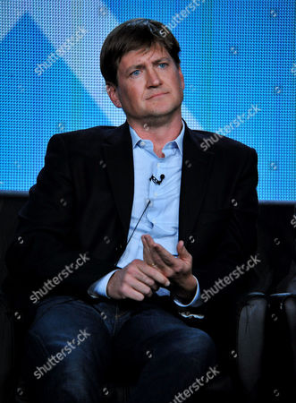 "Executive producer Bill Lawrence is seen at the panel for ""Surviving Jack"" at the FOX Winter 2014 TCA,, at the Langham Hotel in Pasadena, Calif"