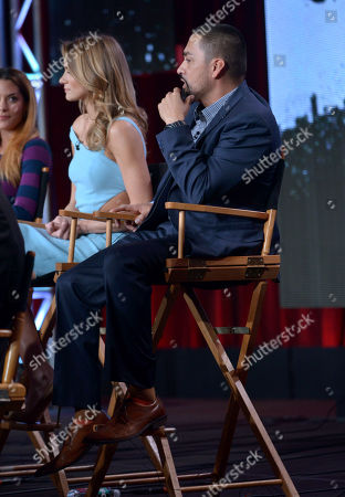 """Rey Gallegos is seen during the """"Gang Related"""" panel at the FOX Winter 2014 TCA,, at the Langham Hotel in Pasadena, Calif"""