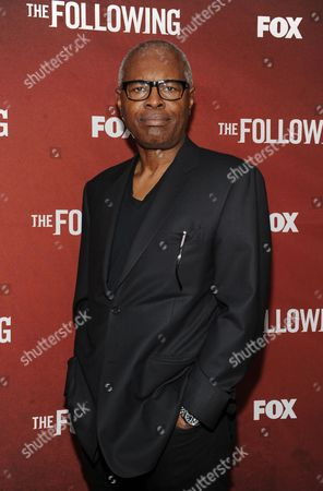 "Stock Image of Actor John Lafayette arrives at FOX's ""The Following"" finale screening at the Academy of Television Arts & Sciences' Leonard H. Goldenson Theater on in North Hollywood, California"