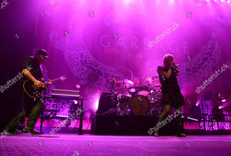 Shirley Manson, Duke Erikson, Steve Marker and Butch Vig with Garbage performs at the Tabernacle, in Atlanta