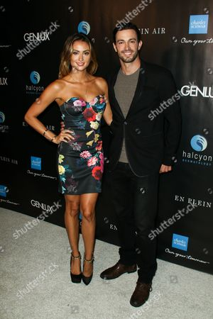 Katie Cleary, left, and Matt Raimo attend the Genlux OC Issue Release Party held at Halcyon Dermatology, in Laguna Hills, Calif
