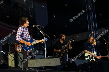 John Fogerty, Justin Young, and Arni Arnason performs on day 2 of the Gentlemen of the Road stop at Francis Field on in St. Augustine FL