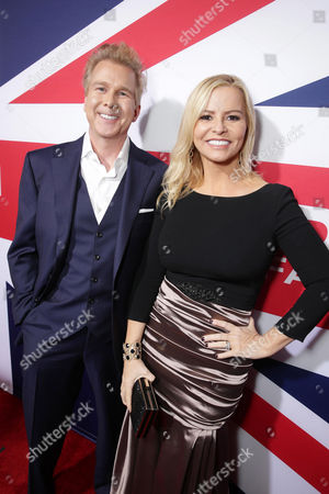 Stock Photo of Screenwriters Creighton Rothenberger and Katrin Benedikt seen at Grammercy Pictures Present the Los Angeles Premiere of 'London Has Fallen' at ArcLight Hollywood, in Hollywood, CA