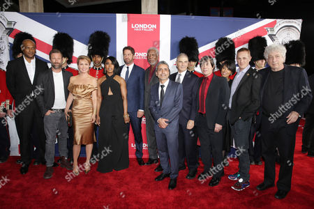 Editorial photo of Gramercy Pictures Present the Los Angeles Premiere of 'London Has Fallen', Hollywood, USA