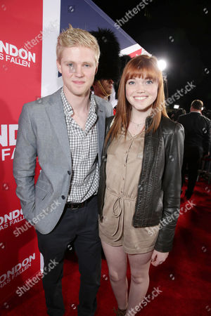 Stock Image of Ryan Cargill and Kennedy Lea Slocum seen at Grammercy Pictures Present the Los Angeles Premiere of 'London Has Fallen' at ArcLight Hollywood, in Hollywood, CA