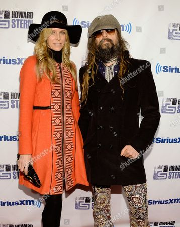 """Rob Zombie and wife Sheri Moon attend """"Howard Stern's Birthday Bash"""", presented by SiriusXM, at the Hammerstein Ballroom on in New York"""