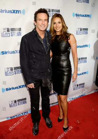 """Jeff Probst and Lisa Ann Russell attend """"Howard Stern's Birthday Bash"""", presented by SiriusXM, at the Hammerstein Ballroom on in New York"""