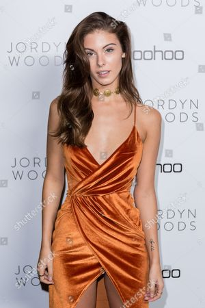 Carmella Rose arrives at the Jordyn Woods x boohoo.com Launch Event at the Neuehouse Hollywood, in Los Angeles