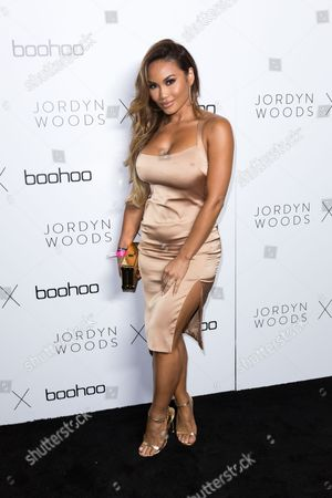 Actress Daphne Joy arrives at the Jordyn Woods x boohoo.com Launch Event at the Neuehouse Hollywood, in Los Angeles