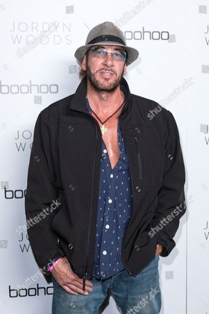 Former Scorpions Bassist Ralph Rieckermann arrives at the Jordyn Woods x boohoo.com Launch Event at the Neuehouse Hollywood, in Los Angeles