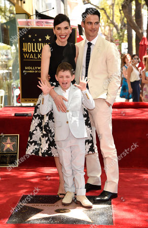 Stock Photo of Julianna Margulies, left, and son Kieran Lieberthal and husband Keith Lieberthal, are seen at a ceremony where she is honored with the 2,550th star on the Hollywood Walk of Fame at Hollywood Boulevard, in Los Angeles