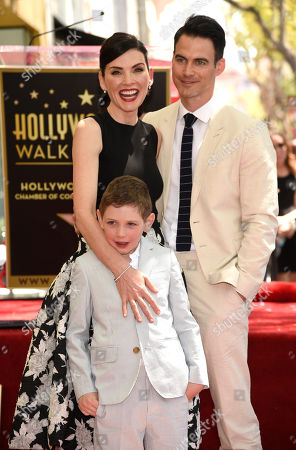 Stock Picture of Julianna Margulies, left, and son Kieran Lieberthal and husband Keith Lieberthal, are seen at a ceremony where she is honored with the 2,550th star on the Hollywood Walk of Fame at Hollywood Boulevard, in Los Angeles