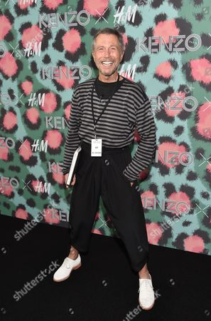 French graphic designer Jean-Paul Goude attends the Kenzo x H&M Runway Show at Pier 36, in New York