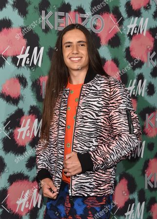 Xiuhtezcatl Martinez attends the Kenzo x H&M Runway Show at Pier 36, in New York
